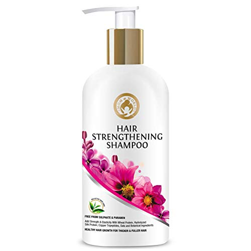 Mom & World Hair Strengthening Shampoo - Protein Shampoo For Thicker And Fuller Hair, 300ml (No SLS, Paraben or Silicon)
