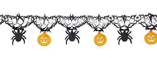 Generique - Guirlande araignées et citrouilles Halloween 3 m