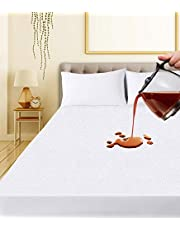 Ropa de Cama Utopía Premium 200 gsm 100% Impermeable Protector de colchón, Funda de colchón de Rizo de algodón, Transpirable, Estilo Ajustado Alrededor del elástico (150 x 200 cm)
