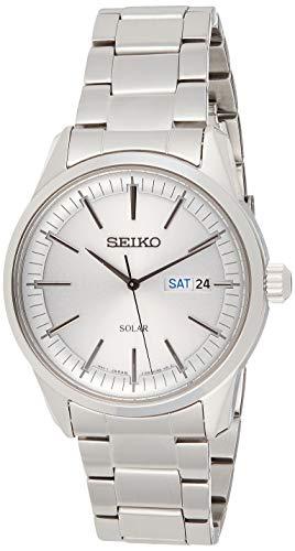 Seiko Reloj Analógico para Hombre de Cuarzo con Correa en Acero Inoxidable SNE523P1