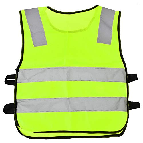 Children's Reflective Vest Traffic Safety Vest Silver Belt Reflective Vest High Visibility Safety Vest for Outdoor Night Activities Suitable for Children to Go Out and Go to School(Green)