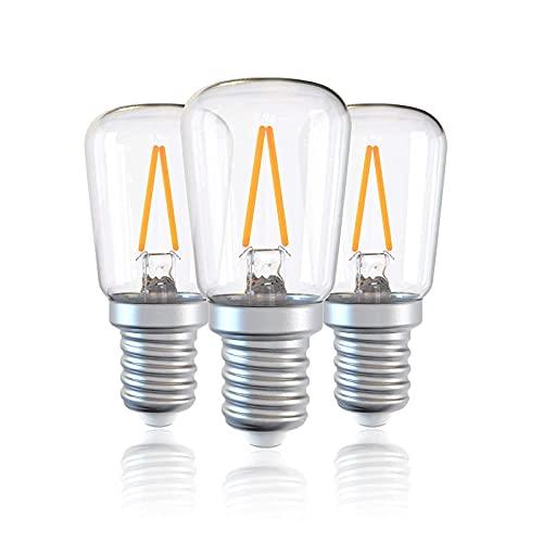 2700K varmvit, liten skruv (SES) 1,5 W (motsvarar 15 W) Energibesparande glödlampor för spisfläkt / frys / mikrovågsugn, 150Lm, E14 LED FriLight-lampa, ej dimbar [Energiklass A ++] 3-pack