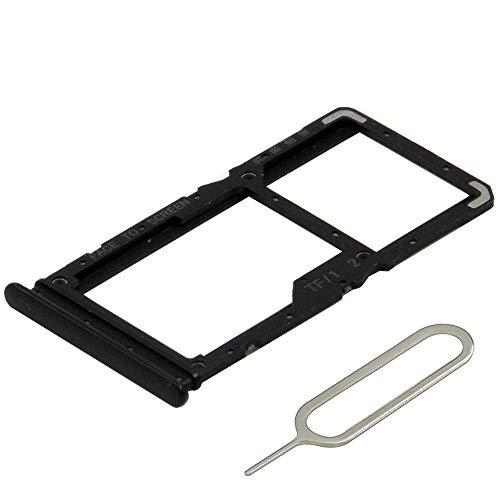 MMOBIEL Dual Bandeja de Tarjeta Sim Ranura Compatible con Xiaomi Redmi Note 7 / Redmi Note 7 Pro (Space Black/Negro) Incl. Sim Pin