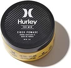 Hurley Men's Fiber Pomade - Low Shine, Strong Hold Matte Hair Cream, Size 3oz, Bourbon and Oak