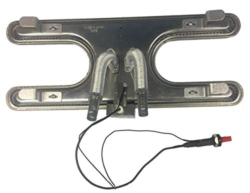 Gas Grill Universal H Style Stainless Steel Burner with Adjustable Tubes & Ignitor Kit Burners Grill