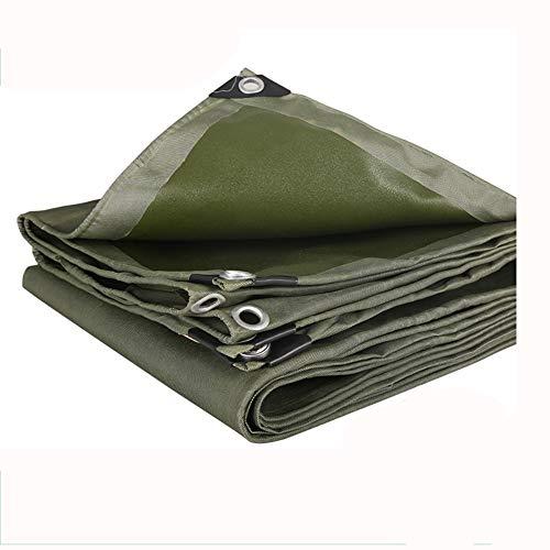 ZHongWei-- Plane-Linoleum-Segeltuch-regendichter Stoff-Auto-Sonnenschutz, 600g / m2, Grün, Stärke 0.8mm, Multi-Size Optional (Size : 3 * 4m)