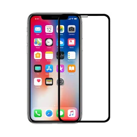 """Nillkin Tempered Glass for Apple iPhone X (5.8"""" Inch) 3D XD CP+ Max Glass 0.1mm Thin Edge Shaterproof Full Screen Coverage Explosion Proof Screen Protect Black Color"""