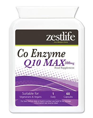 Zestlife Co-Enzyme Q10 (CoQ10) 300mg 2 x 60 Capsules High Absorption - Gluten Free