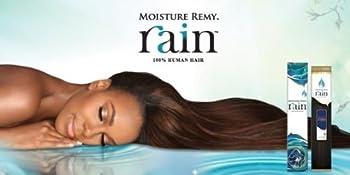 Moisture Remy Rain Human Hair Weave - Yaky  12 inch 1B - Off Black