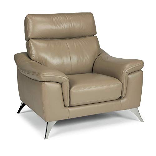 """Home Styles homestyles by Flexsteel Moderno Leather Upholstered Chair, W-40 ¼"""", D-35"""", H-36"""", Beige"""