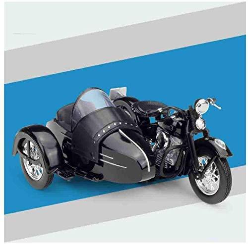 XIUYU 18.01 Harley-Dreirad-Motorrad Die Cast-Modellbau-Legierung Auto Sammlung Spielzeug Geeignet for Jungen Mädchen und Erwachsene, 1947 (Farbe: Harley 1948 FL) (Farbe: 1947 Servicar)