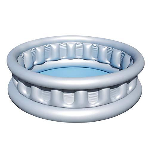 Piscina inflable infantil para niños pequeños, estilo de nave espacial, 3 anillos, redondo, inflable, piscina, agua, piscina de bebé, inflable para interior y exterior, jardín