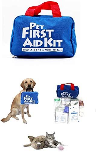 Erste-Hilfe-Set für Hunde und Katzen, 88-teiliges Notfall-Survival-Beutel für Haustiere, Tiere, perfekt für Zuhause, Outdoor, Wandern, Camping, Notfälle, Haustierfreundlich