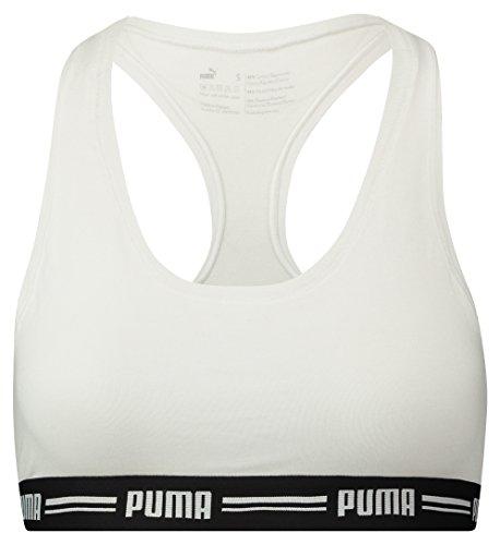 PUMA Damen Iconic Racer Back Bra 1P Unterwäsche, White, S