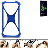 K-S-Trade® Handyhülle Für Allview P8 Energy Mini Silikon Schutz Hülle Cover Case Bumper Silikoncase TPU Softcase Schutzhülle Smartphone Stoßschutz, Blau (1x),