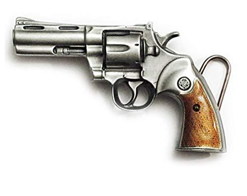 Barker de boucles pour homme Boucle de ceinture Revolver gun droits Nra armes à feu - Multicolore - Taille Unique
