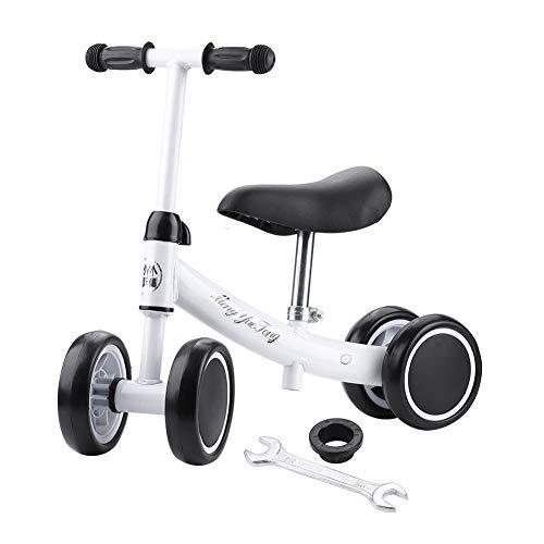 SPFOZ Balance Training Mini Bike Scooter Walker Scooters para Bebés De 1-2 Años (Blanco)