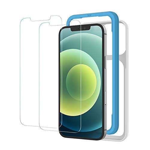 NIMASO ガラスフィルム iPhone 12 / iPhone 12Pro / 11 / XR 用 保護 フィルム ガイド枠付き 2枚セット