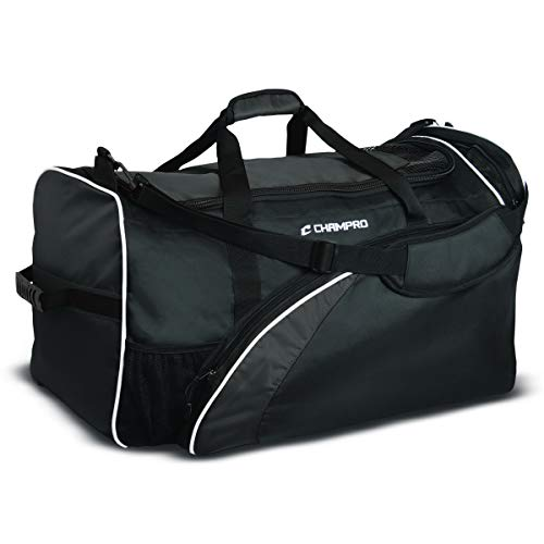 Champro Varsity Football Equipment Bag (Black, 28 x 15 x 15)