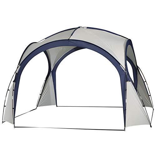 Outsunny - Carpa Tienda de Fiesta Gazebo 3.5x3.5m Toldo Abierto para Eventos Camping Impermeable Protección UV