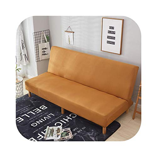 HCIUUI Stretch Sofa Bed Cover All-Inclusive Folding Sofa Cover for Living Room Couch Cover Without Armrest-Color 15-Size M 160-190 cm
