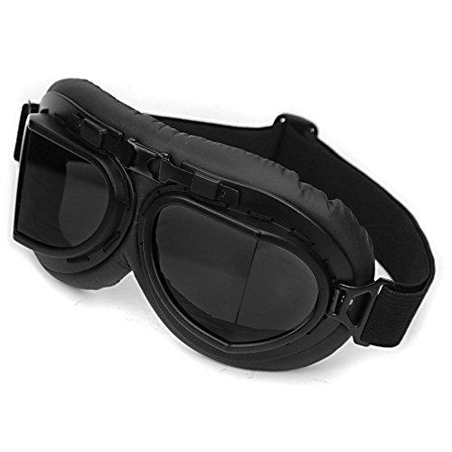 Gafas de Protección protección UV contra viento montura completa gafas de ciclismo gafas motocicleta motorista motos de Motocross (Negro)