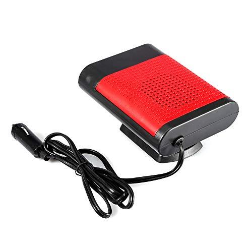 Desempañador para el parabrisas del coche, calefactor eléctrico portátil de 12 V para ventana, secador de calefacción, ventilador de parabrisas, desempañador ABS(rojo)