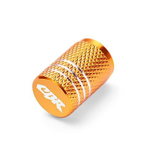 Fyjhunann Tapas de vástago de la válvula de neumático de la Rueda de la Motocicleta para Honda CBR 125R 600 F4I 650F / R 1100XX 1000F CBR 600 954 1000 RR 900RR 250R hnfyj (Color : 1Pcs Gold)