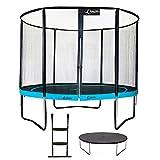 Kangui - Trampoline de Jardin Rond 305 cm + Filet de sécurité + échelle + bâche de Protection | PUNCHI Bleu 300