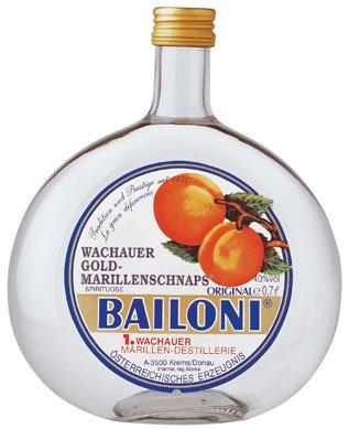 Bailoni Wachauer Gold Marillenschnaps, 40% Vol.Alk. - 0.7L