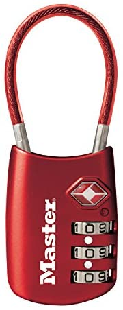 Master Lock 4688D Set Your Own Combination TSA Approved Luggage Lock, 1 Pack, Assorted Colors