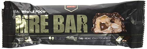 Redcon1 MRE Bar - Meal Replacement Bar (1 Box / 12 Bars) - Oatmeal Chocolate Chip - Animal Based Protein, 20G Protein, No Bloating, Real Food Taste