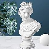 Jorzer Griego clásico Dios Sol, clásico Dios Griego del Sol y Busto Poesía Apolo Cabeza Estatua de la Escultura Romana Figurita de Escultura Decoración y Collection- Romana Figurita 2,8 Pulgada