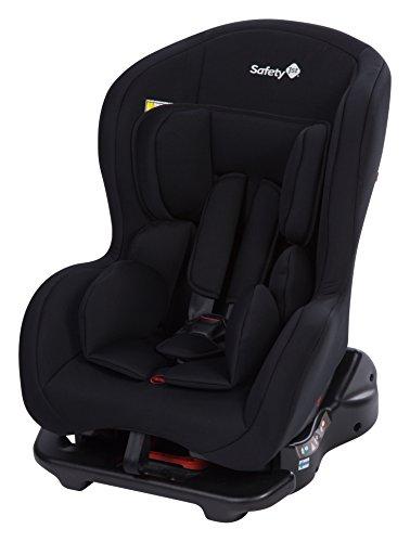 Safety 1st Kindersitz Sweet Safe, mitwachsender Autositz der Gruppe 0/1 (0 - 18 kg), weich gepolstert und inkl. 5-Punkt-Gurt, nutzbar ab der Geburt bis ca. 4 Jahre, full black