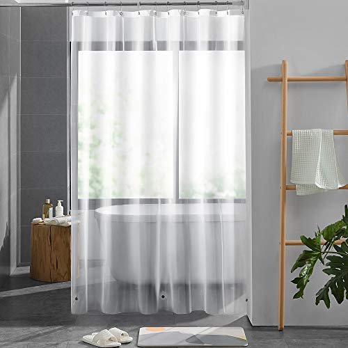 """Basic Beyond Shower Curtain Liner PEVA Clear Liner Waterproof for Bathroom Shower 72""""x72"""" 1 Piece"""