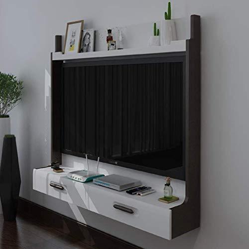 ZXYY wandgemonteerde TV kabinet WiFi Router Set top Box TV Frame Wandplank Zwevende plank Multimedia Console met Lade Geschikt voor 46-50 inch TV Stand (Kleur: Houten Kleur Afmeting: 46-50 inch T 46-50 Inch Tvs-walnut Color