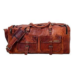 24 Zoll handgemachte echte Vintage Leder große Reisen Duffel Weekend Bag