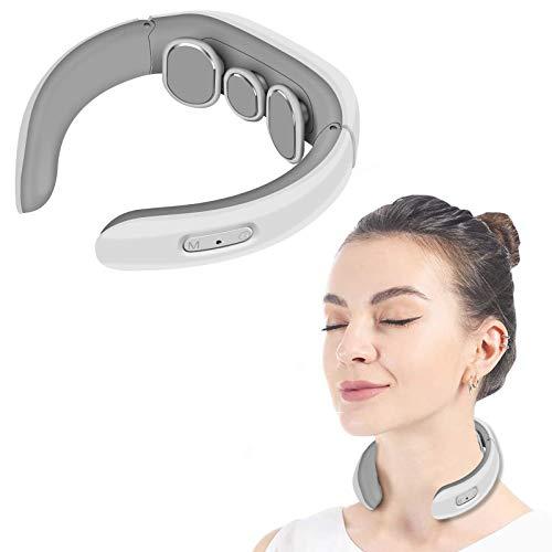Massaggiatore cervicale e da collo,Massaggiatore Cervicale,Massaggiatore Schiena,Massaggiatore per Collo Intelligente Elettromagnetico Multifunzionale Massaggiatore