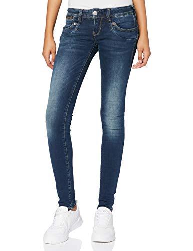 Herrlicher Damen Piper Slim Jeans, Blau (Clean 051), 29W / 30L