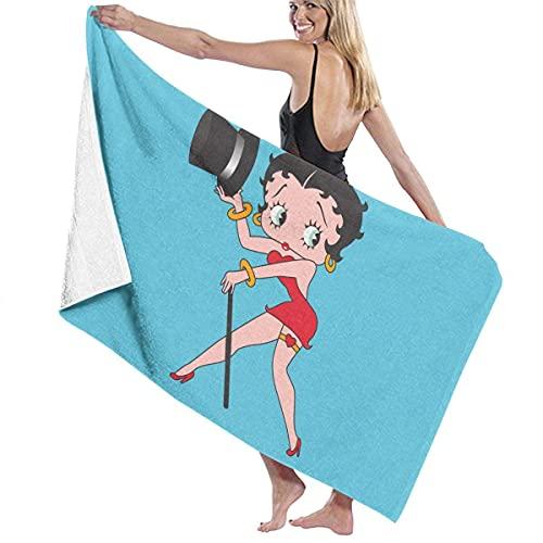 IUBBKI Negro B-e-t-t-y Boop (1) Toalla de baño súper Suave Natación Toalla de SPA Ducha Camping Yoga Toalla de Playa de Arena Tamaño Personalizado 31x51 Pulgadas