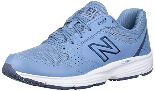 New Balance womens 411 V1 Walking Shoe, Lynx Blue/Vintage Indigo, 9.5 Narrow US
