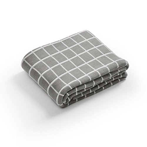 Amazing Deal QTQHOME Cotton Waffle Knitting Double Layer Blanket,Super Soft Breathable Bed Sheet Wit...