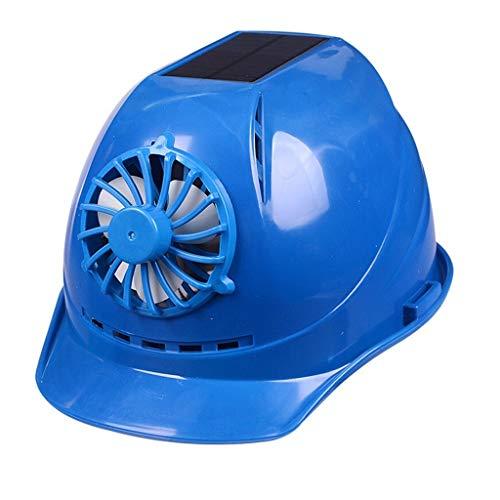 ChangDe-- Schutzhelm, Sommersonnenschutzhelm mit Fan Wiederaufladbare Sonnenschutz-Hut atmungsaktiv (Color : Blue)