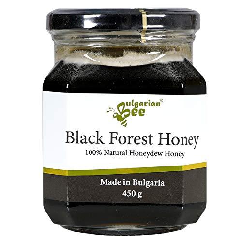 450 g Miel de miellat brut. Miel Noir des Forêts de Montagne Vierges, non chauffé, non pasteurisé, brut, réel, directement de la ruche, miel unique Bulgare (UE), édition limitée