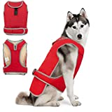SCIROKKO Dog Vest Winter Coat Warm Windproof Jacket Apparel Cold Weather For Small Medium Large Dogs