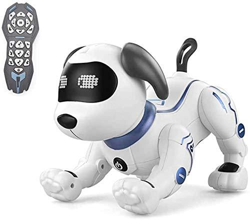 Perro Robot para Niños Mascota Robot Programable Interactivo ¡Muy Divertido! Robot Teledirgido con Mando Control Remoto Juguetes