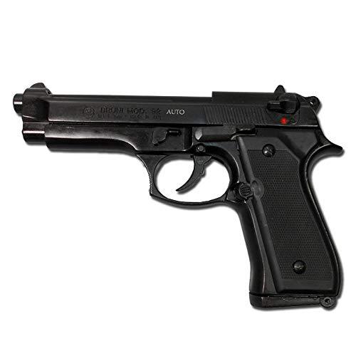 Pistolet en MÉTAL À Blanc Voiture Beretta 92 8 MM Noir 0.4 Joule - BR-92A.8