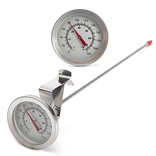 Jeffergarden Termometro Cucina Digitale Kettle Clip su Quadrante Birra Fatta in casa Vino Termometri Acciaio Inossidabile Display LCD Sonda Temperatura Yogurt con Latte Caldo Utensili da Termometri
