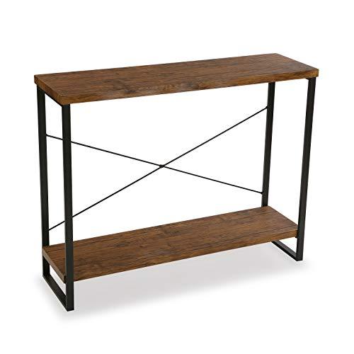 Versa Taline Meuble dEntrée Étroit pour lEntrée ou Couloir, Table Console, Dimensions (H x l x L) 80 x 30 x 100 cm, Bois et métal, Couleur Noir