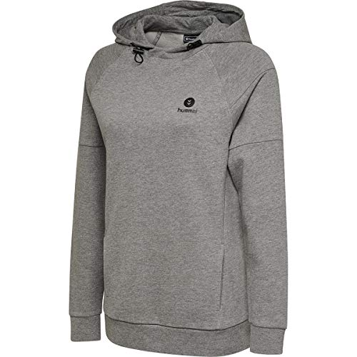 Hummel Damen hmlACTIVE Cotton Hoodie Woman, Dark Grey Melange, M